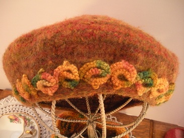 Scarf And Hat with Tatted Yarn decoration.
